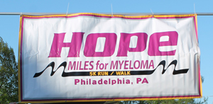Miles for Myeloma Hope sign