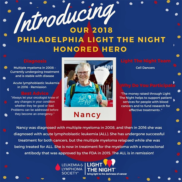 2018 Light the Night Poster featuring Nancy Stewart