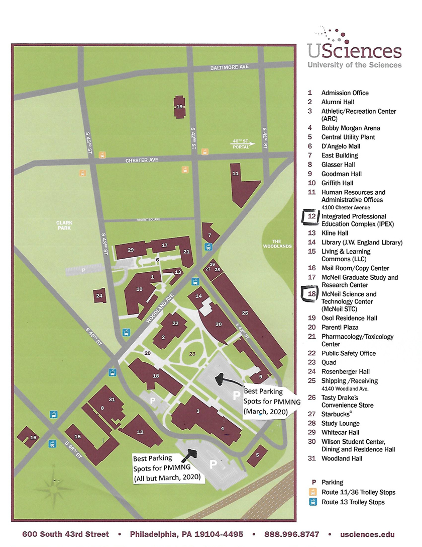 University of Sciences map